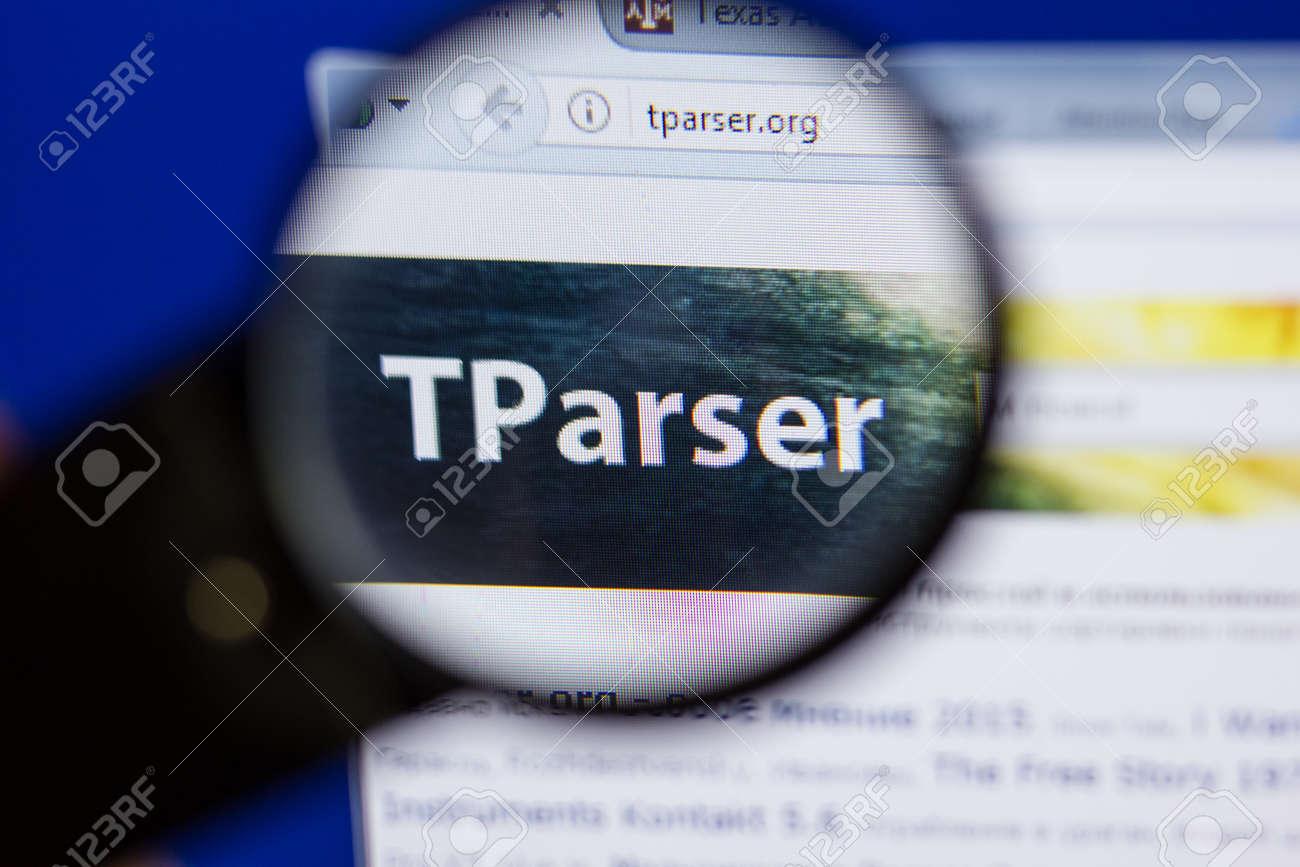 Ryazan, Russia - June 16, 2018: Homepage Of TParser Website On