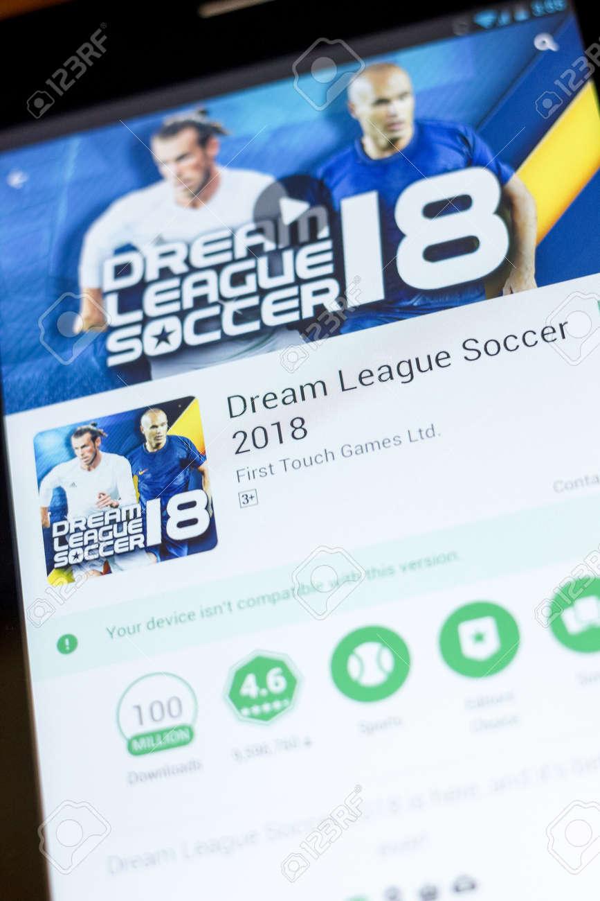 Ryazan Russia July 03 2018 Dream League Soccer 2018 Icon In The