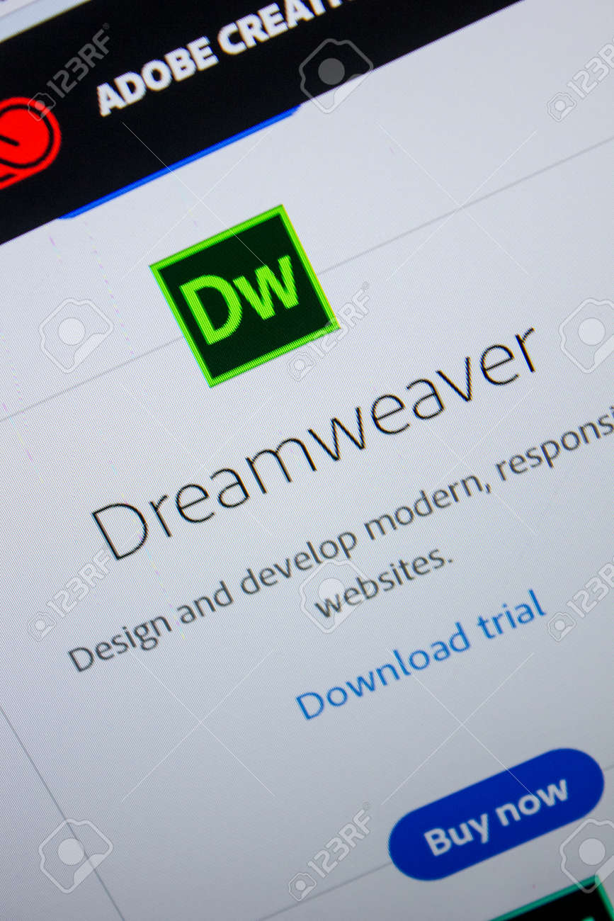 Ryazan Russia July 11 2018 Adobe Dreamweaver Software Logo Stock Photo Picture And Royalty Free Image Image 107608853