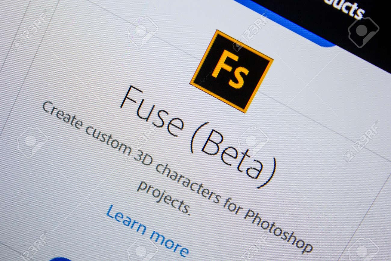 Ryazan, Russia - July 11, 2018: Adobe Fuse, software logo on