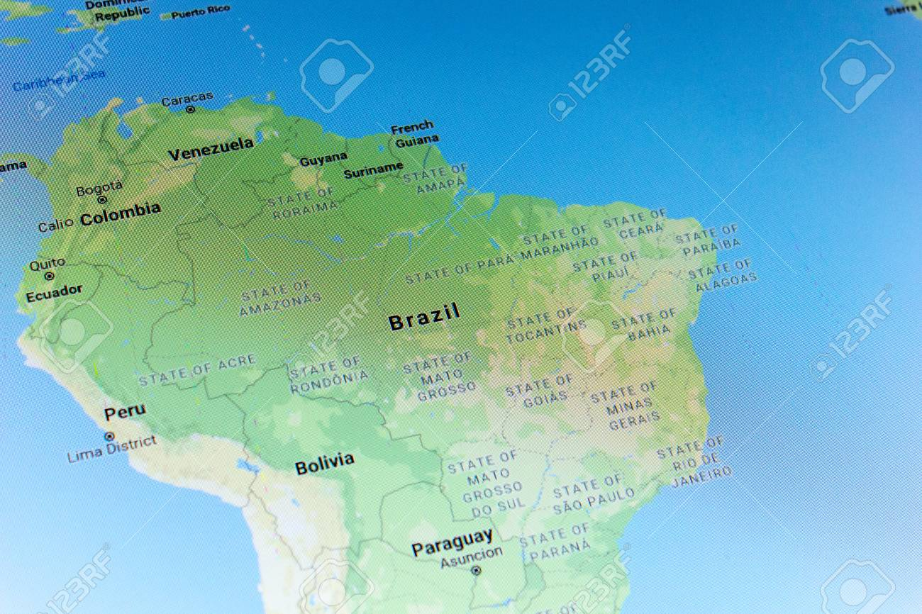 Ryazan, Russia - July 08, 2018: Country of Brazil on the google
