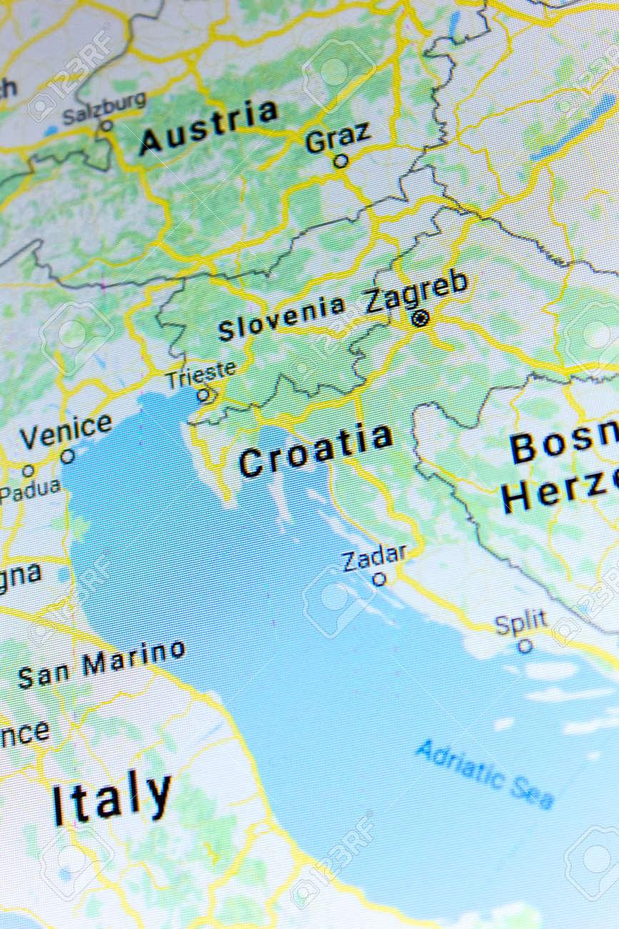 Ryazan, Russia - July 08, 2018: Country Of Croatia On The Google ...