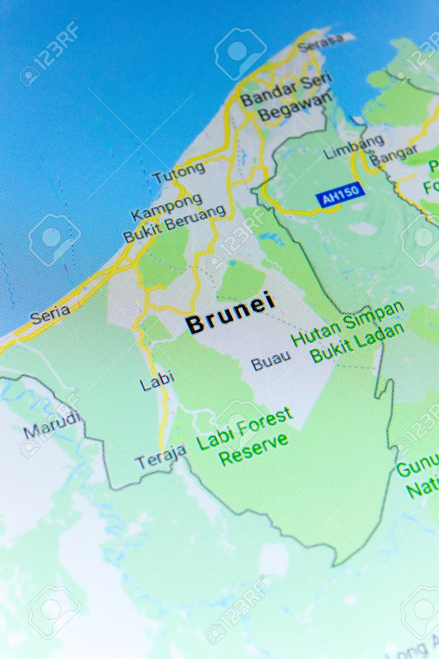Google Map Of Russia.Ryazan Russia July 08 2018 Country Of Brunei On The Google