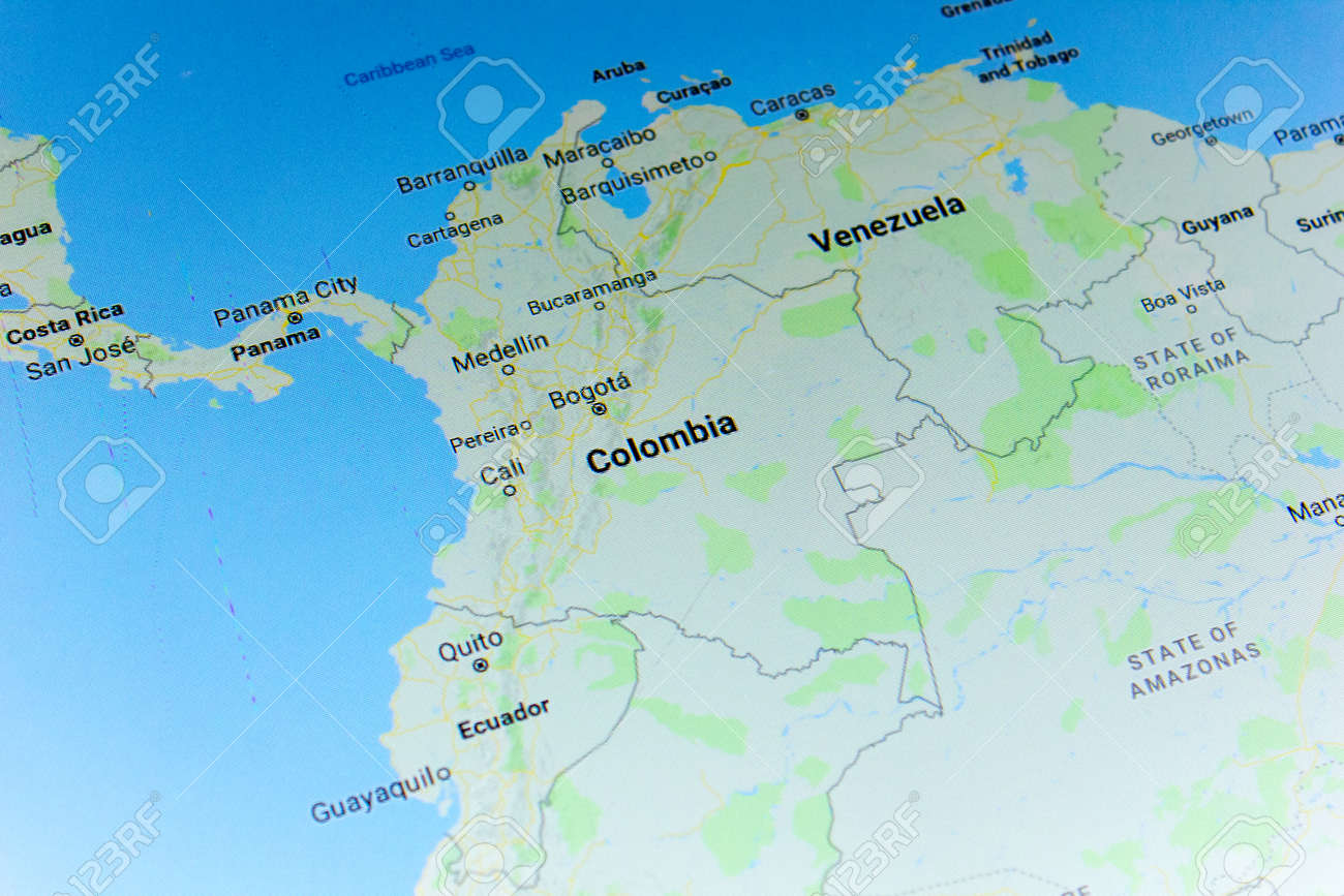 Ryazan, Russia - July 08, 2018: Country of Colombia on the google..