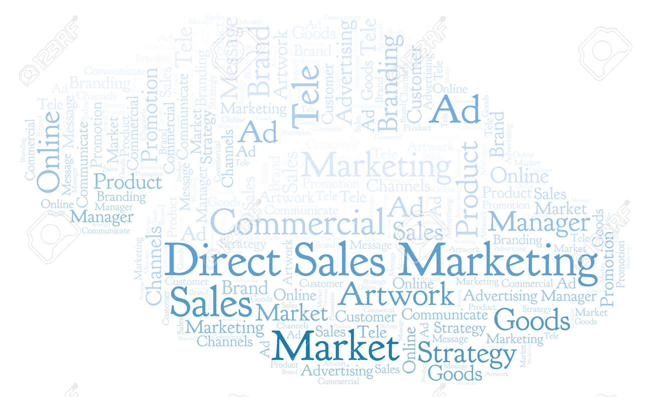 af6b256a31 Stock Photo - Word cloud with text Direct Sales Marketing. Wordcloud made  with text only.