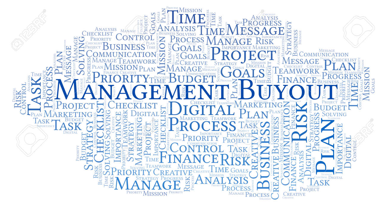 Management Buyout Word Cloud Made With Text Only Stock Photo  Management Buyout Word Cloud Made With Text Only Stock Photo