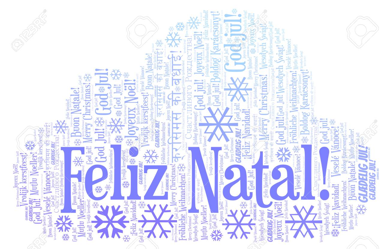 Weihnachtsessen Portugal.Feliz Natal Word Cloud Merry Christmas On Portugal Language