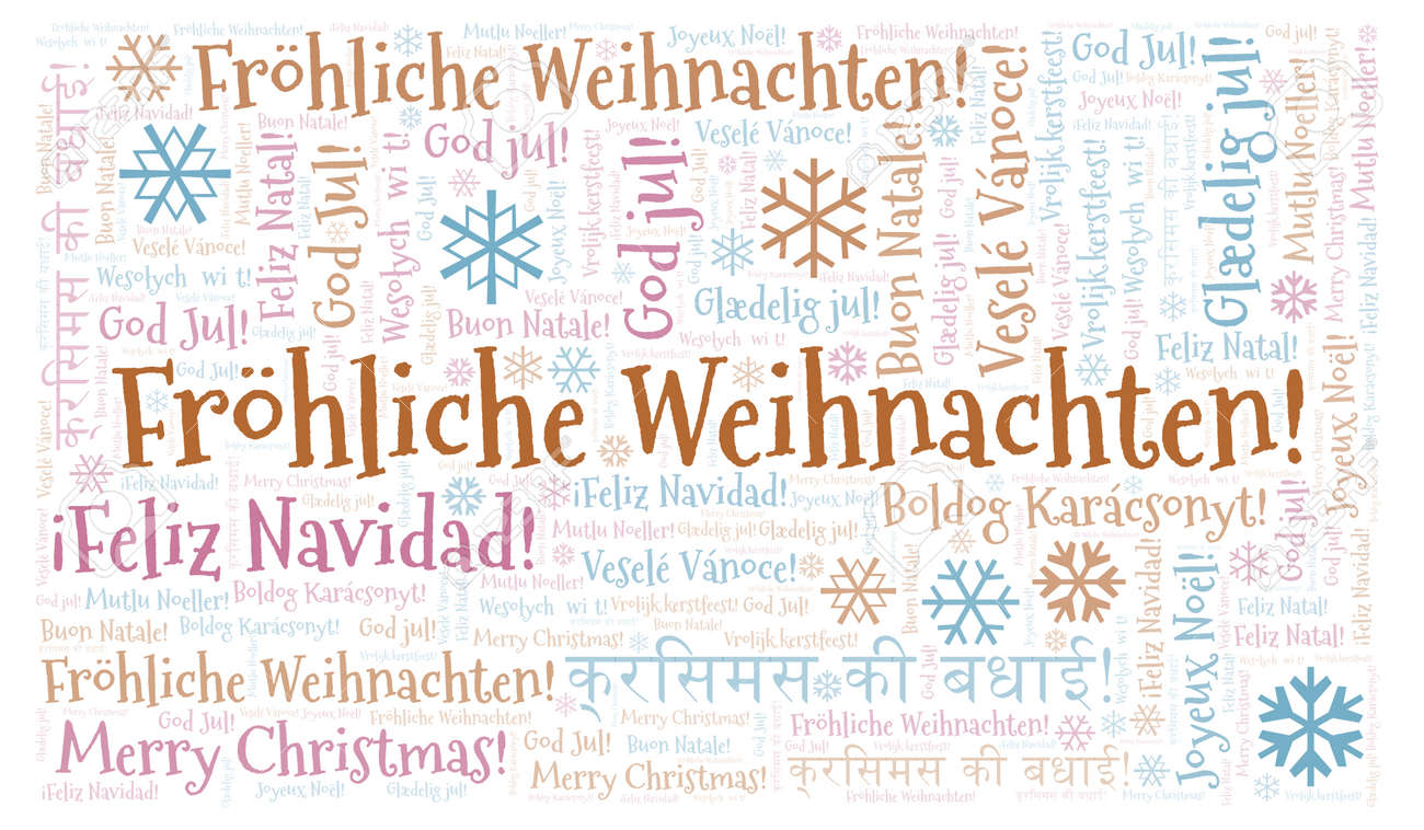 How Do You Say Merry Christmas In German.Frohliche Weihnachten Word Cloud Merry Christmas On German