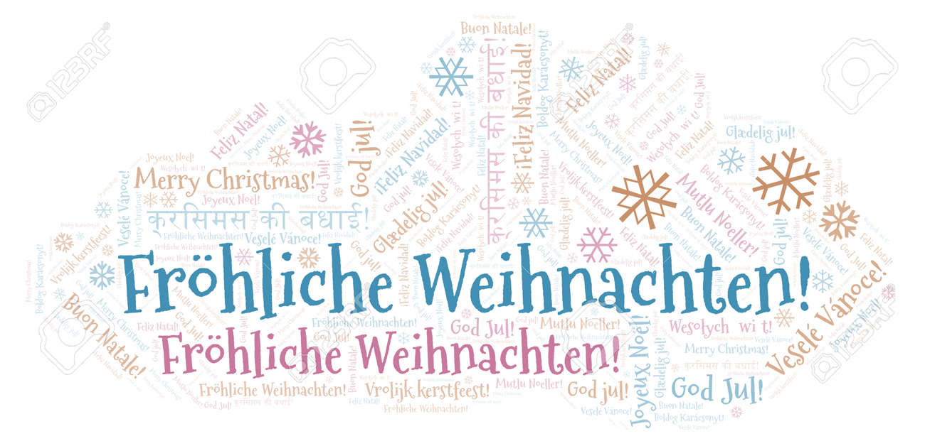 How Do You Say Merry Christmas In German.Frhliche Weihnachten Word Cloud Merry Christmas On German