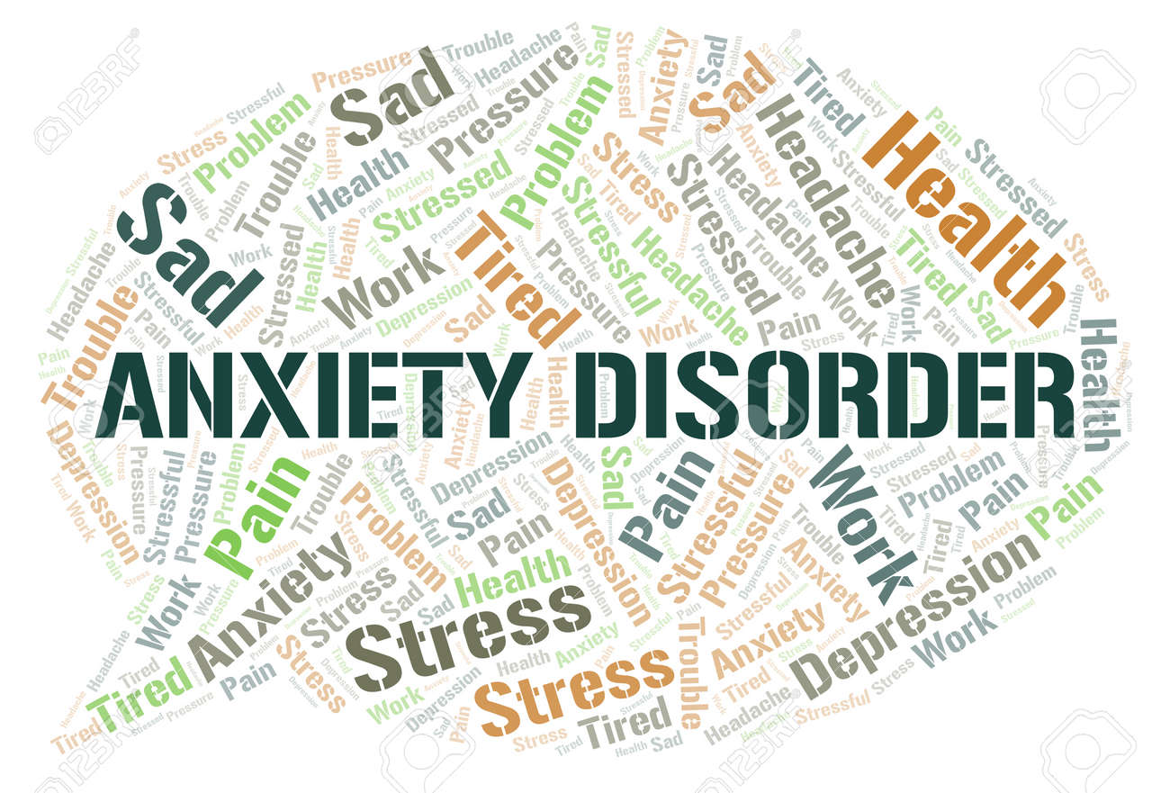 Anxiety Disorder word cloud. Wordcloud made with text only. - 123282178