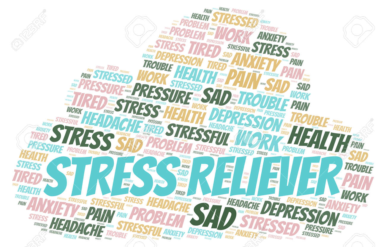 Stress Reliever word cloud  Wordcloud made with text only