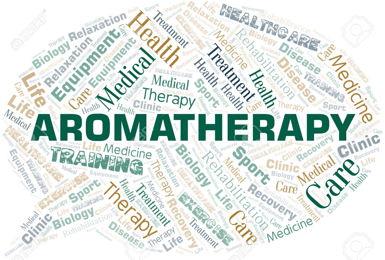 Aromatherapy word cloud. Wordcloud made with text only. - 124190553