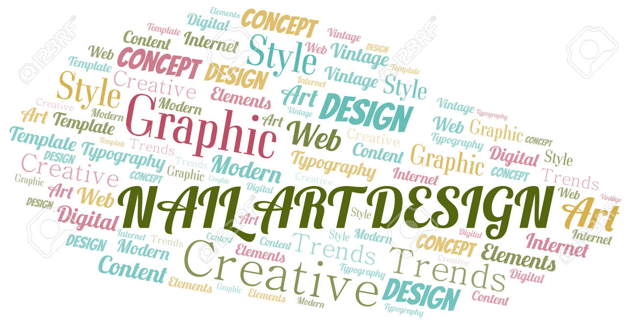 Nail Art Design Word Cloud Wordcloud Made With Text Only