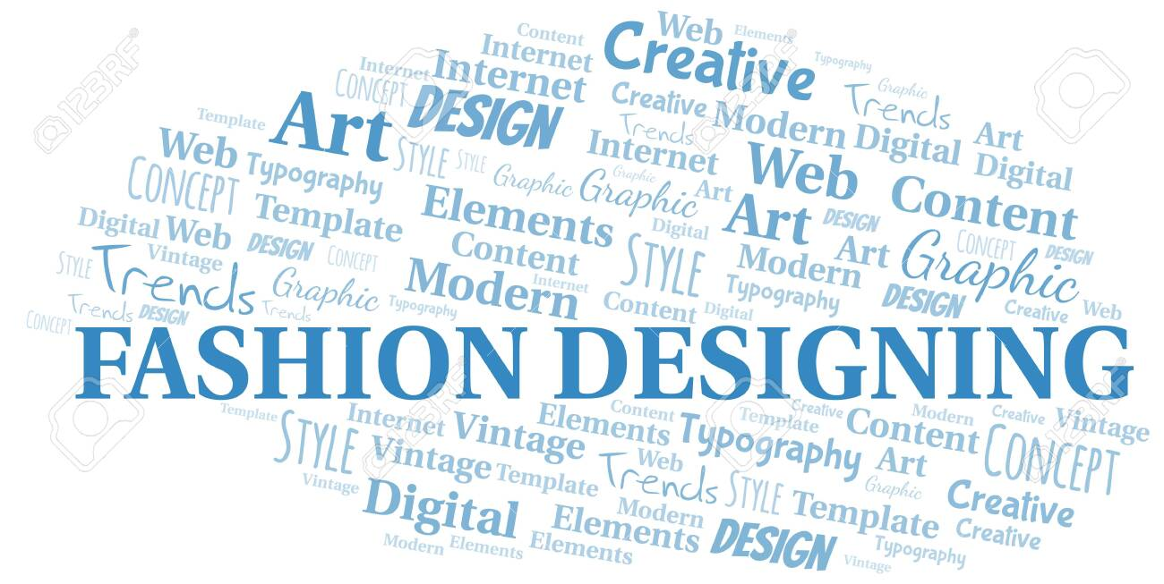 Fashion Designing Word Cloud Wordcloud Made With Text Only Royalty Free Cliparts Vectors And Stock Illustration Image 124550075