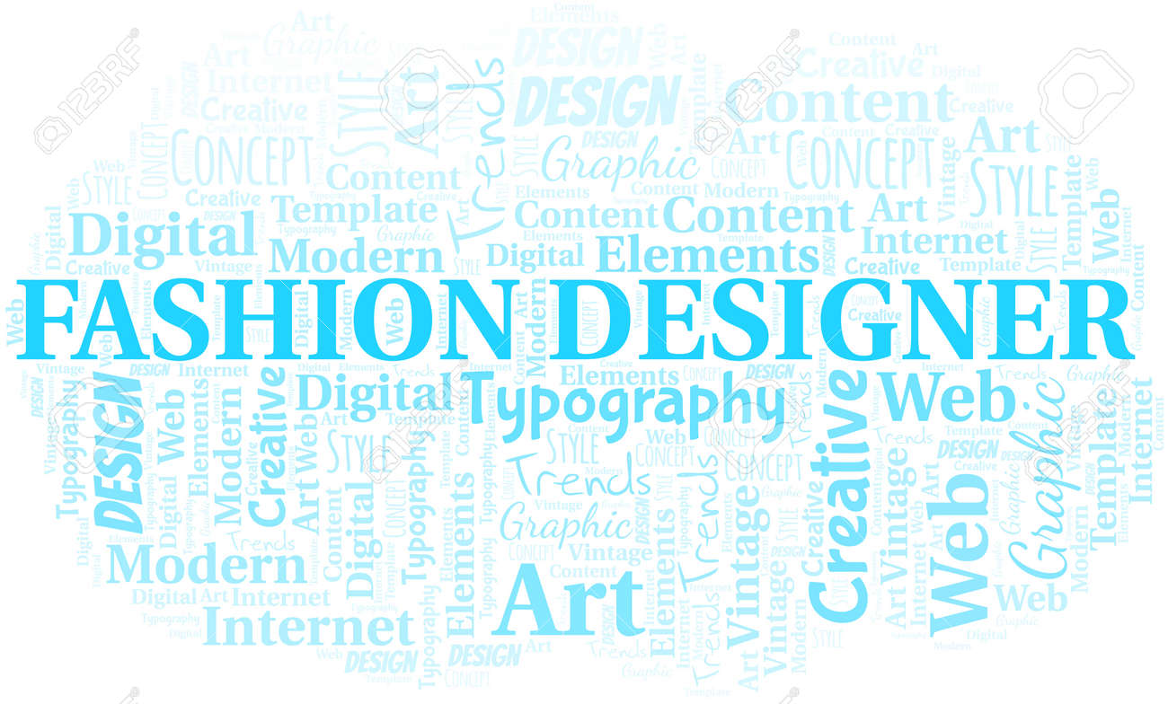 Fashion Designer Word Cloud Wordcloud Made With Text Only Royalty Free Cliparts Vectors And Stock Illustration Image 124720028