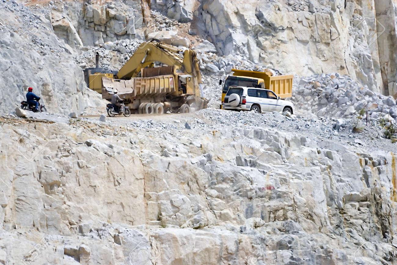 Vehicles at a Granite Rock