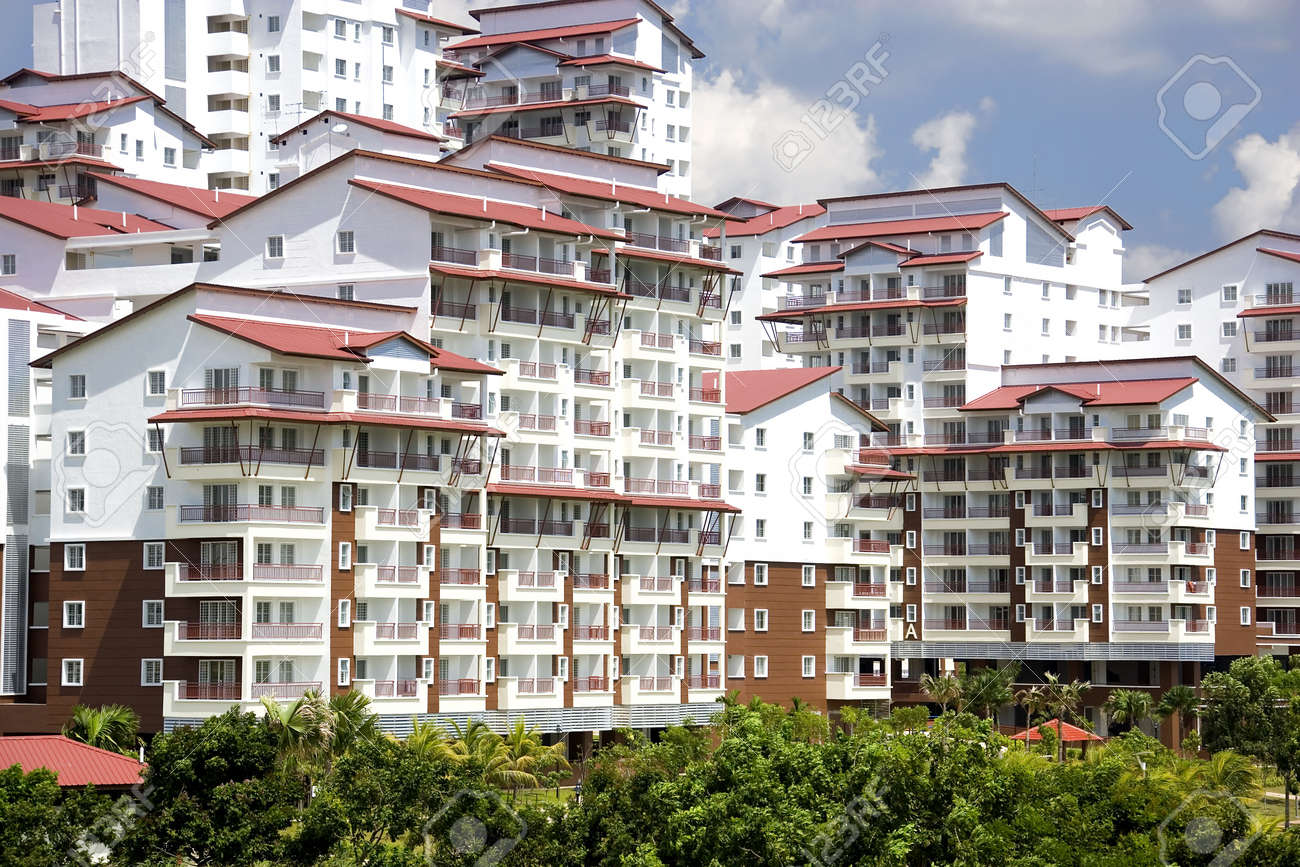 Image of brand new real estate for sale in Malaysia. Stock Photo - 2824444
