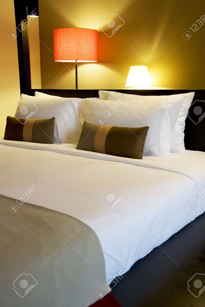 Image of a comfortable looking bed. Stock Photo - 5822155