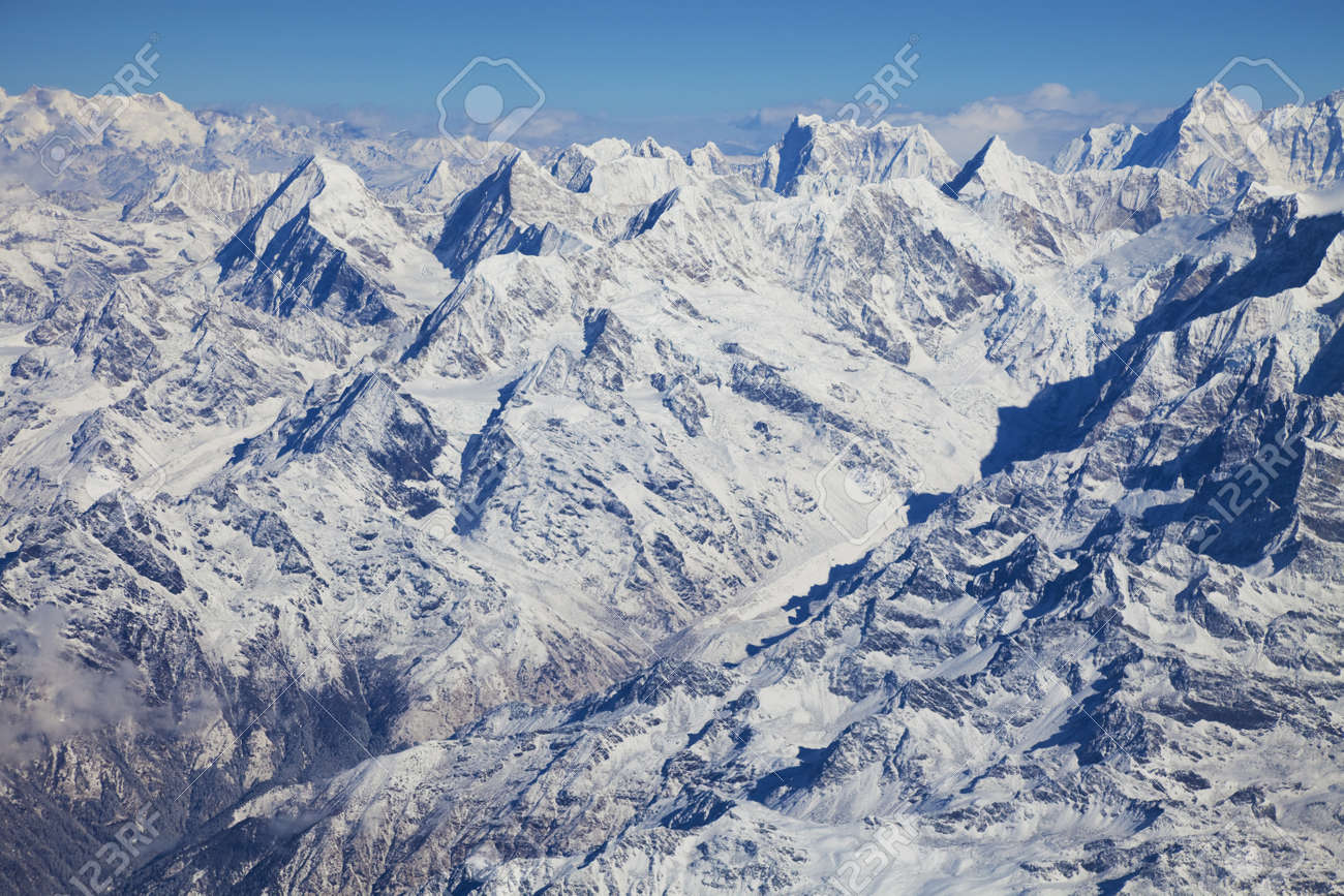 Image Of The Himalayas Mountain Range, Nepal. Stock Photo, Picture ...