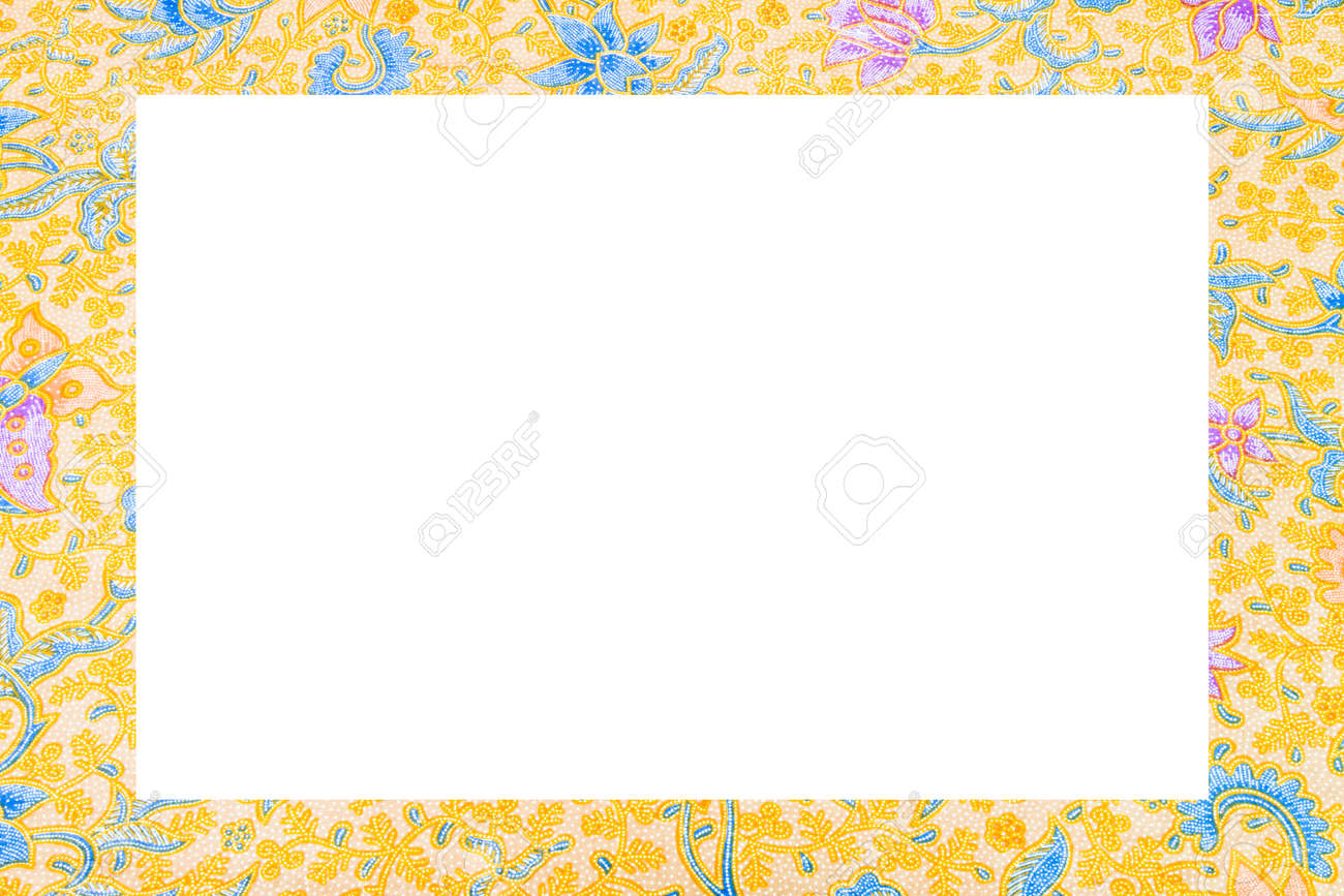 Batik Cloth Frame On White Background Stock Photo, Picture And ...