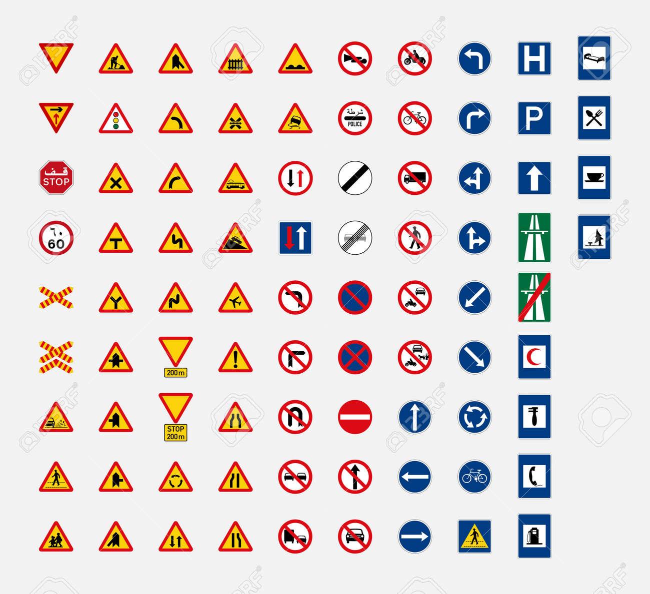 Traffic signs road TRAFFIC SIGNS