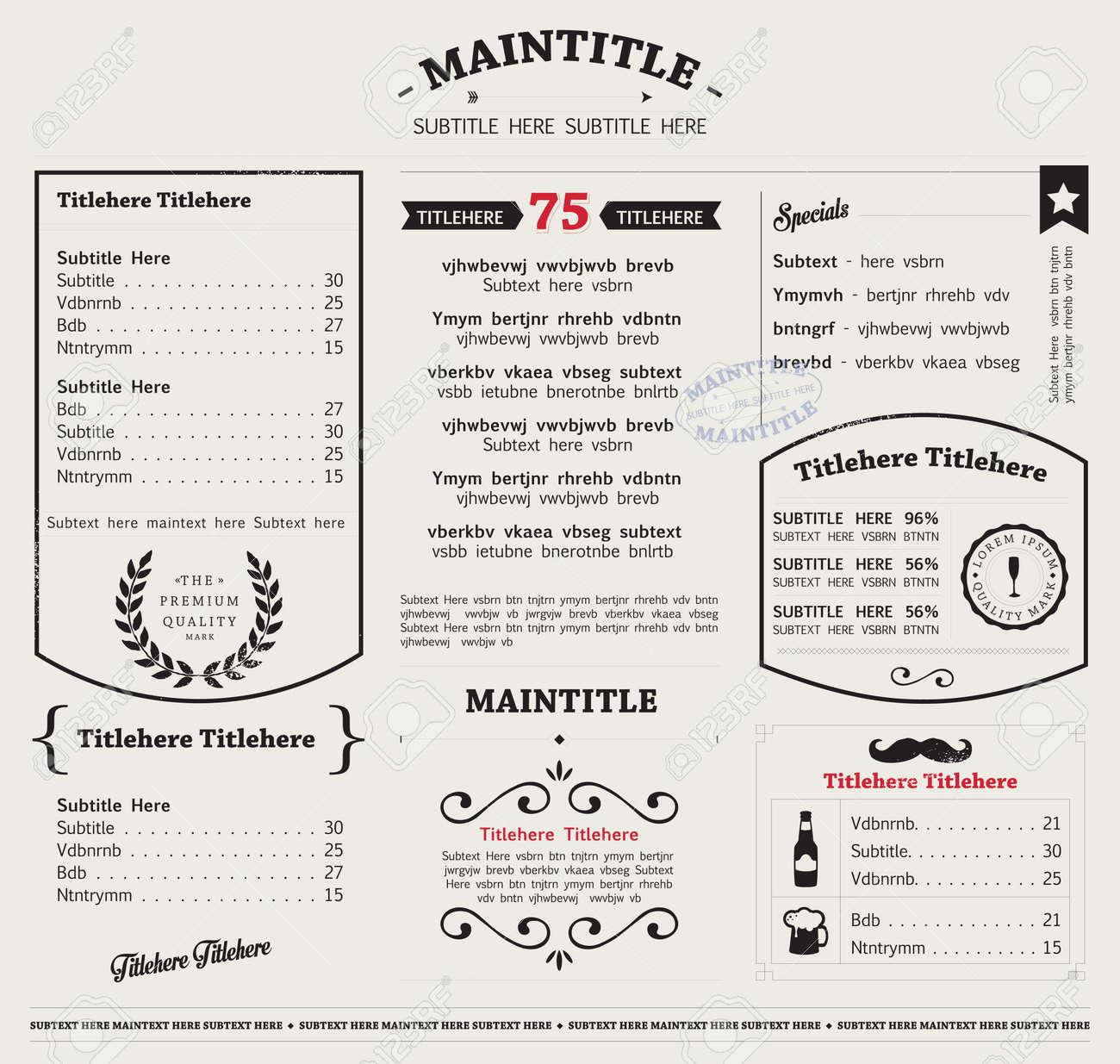 Restaurant Menu Food Design Ideas - 155537176