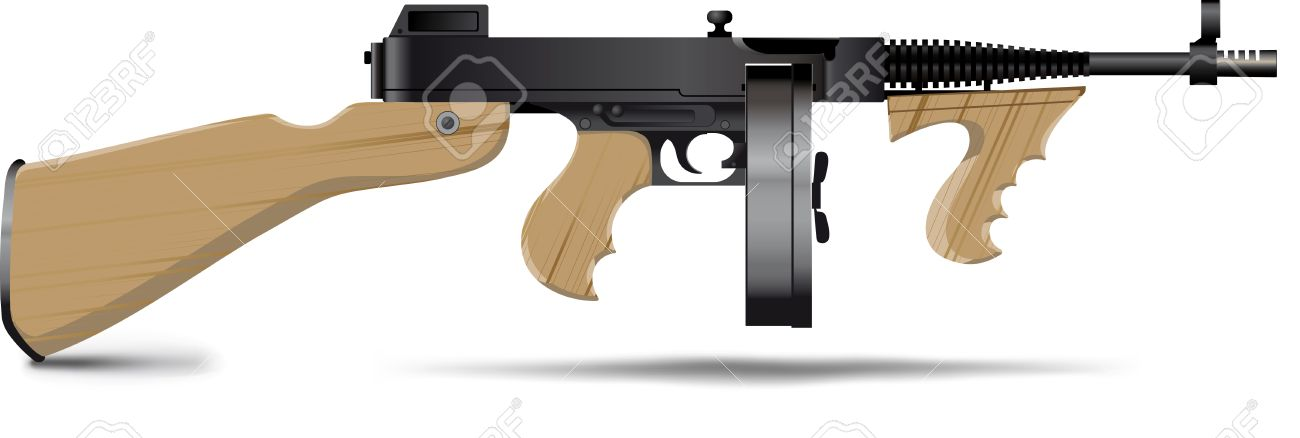 Good old-fashioned gangsters Tommy Gun Stock Vector - 7507366