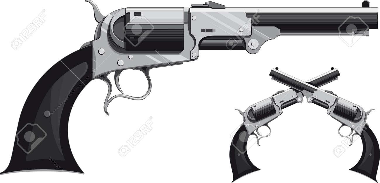 Cowboy Guns Wallpaper cowboy revolver Vector