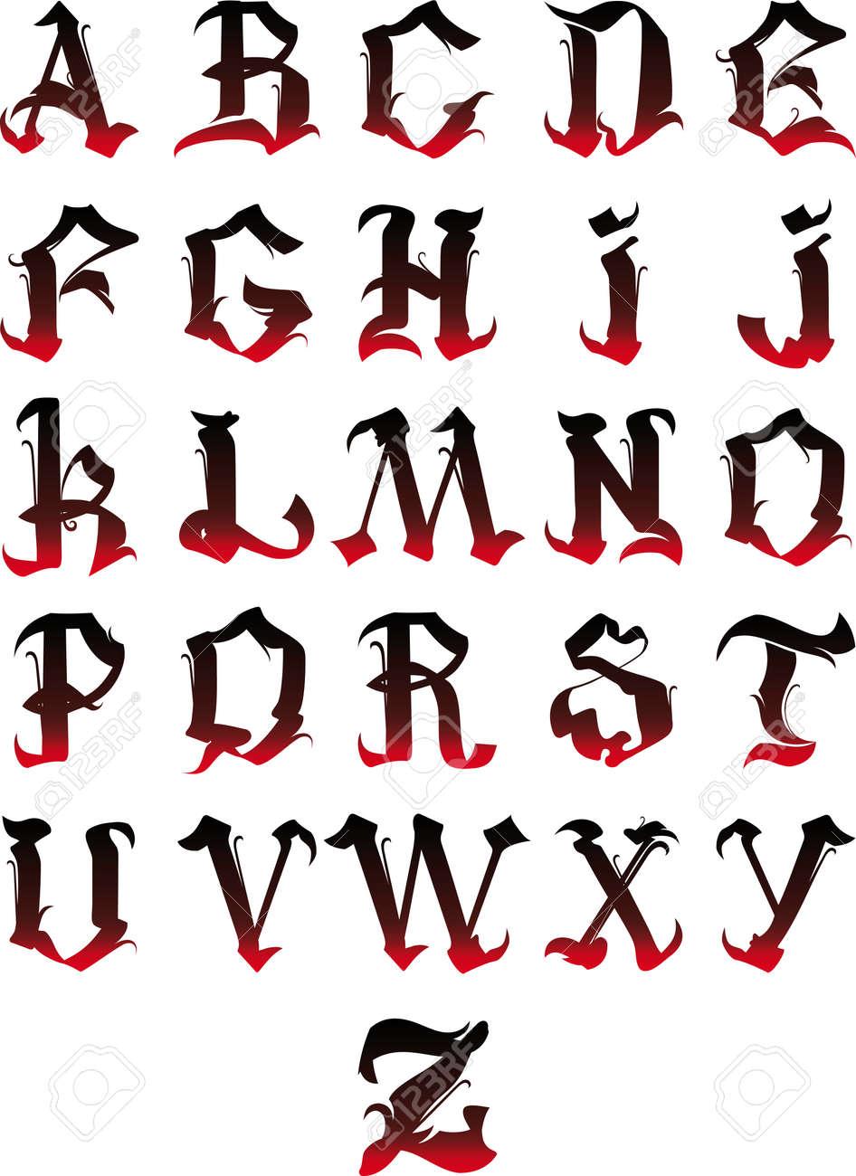 Belles lettres de lalphabet gothique isol sur un fond blanc clip banque dimages belles lettres de lalphabet gothique isol sur un fond blanc thecheapjerseys Image collections
