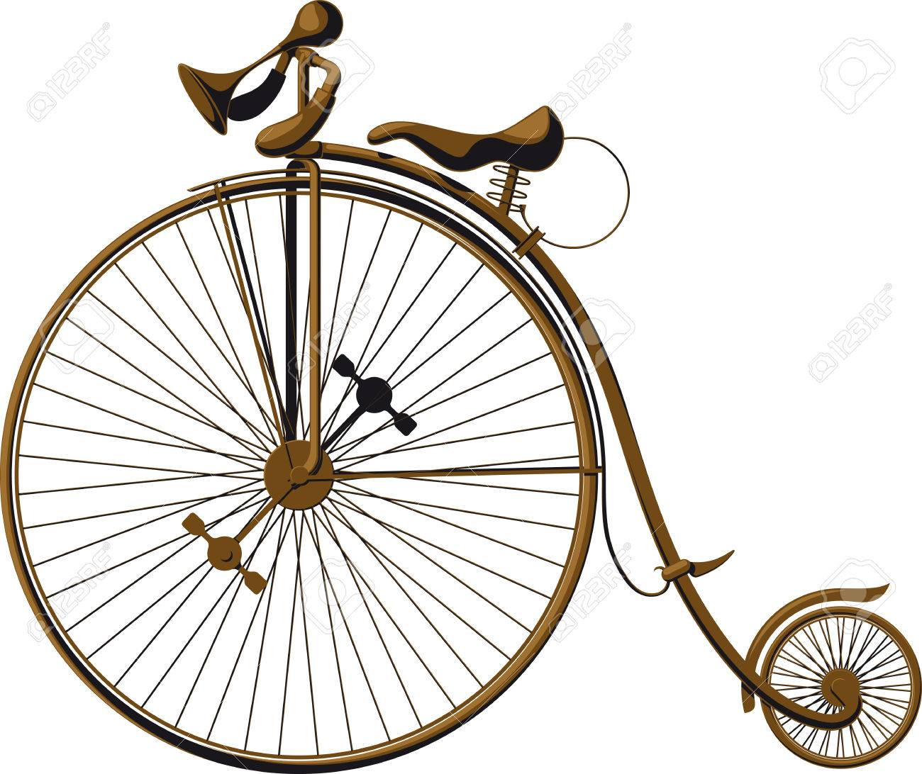 Penny-farthing - Wikipedia Old fashioned big wheel tricycle