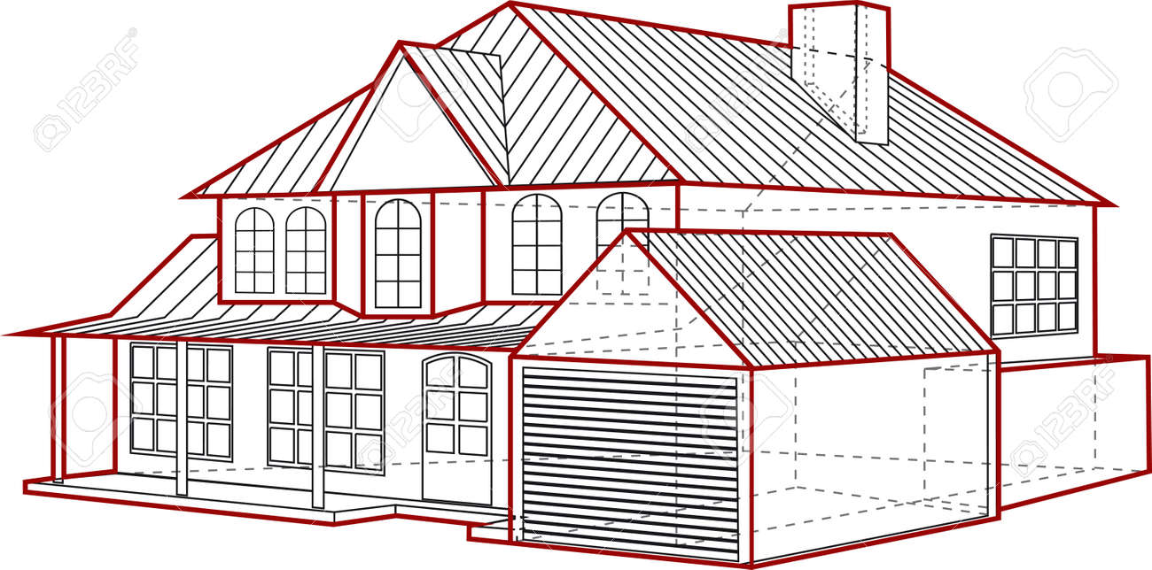 House Plan Royalty Free Cliparts, Vectors, And Stock Illustration ...