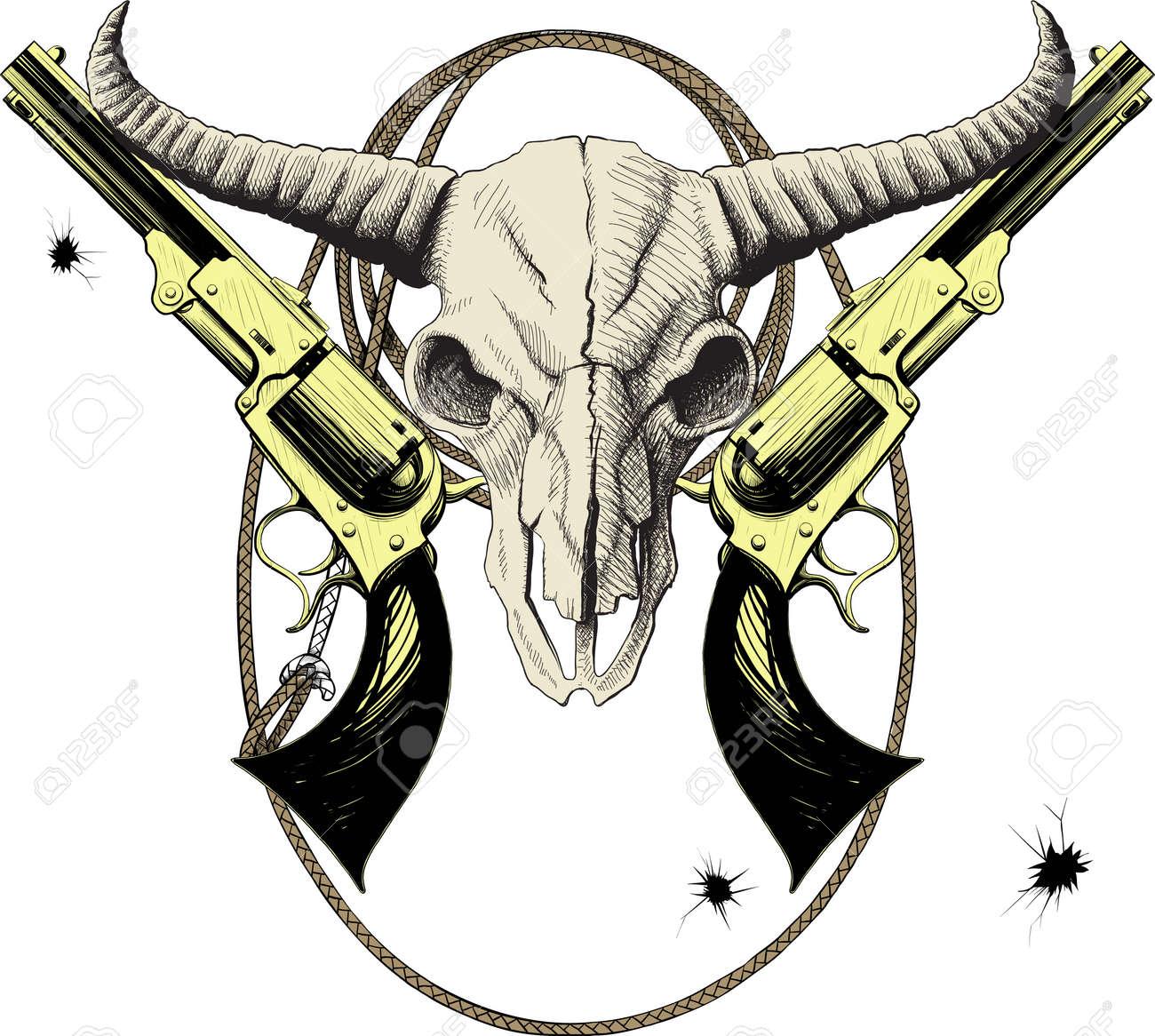 Животное бык с пистолетом или ружьем картинка 5