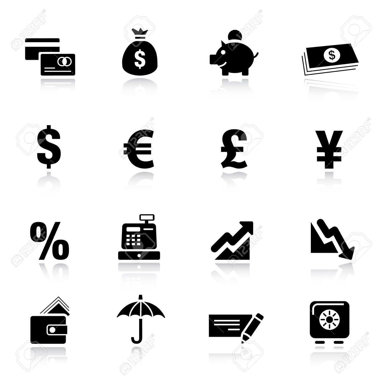 Basic -  Finance icons Stock Vector - 9701441