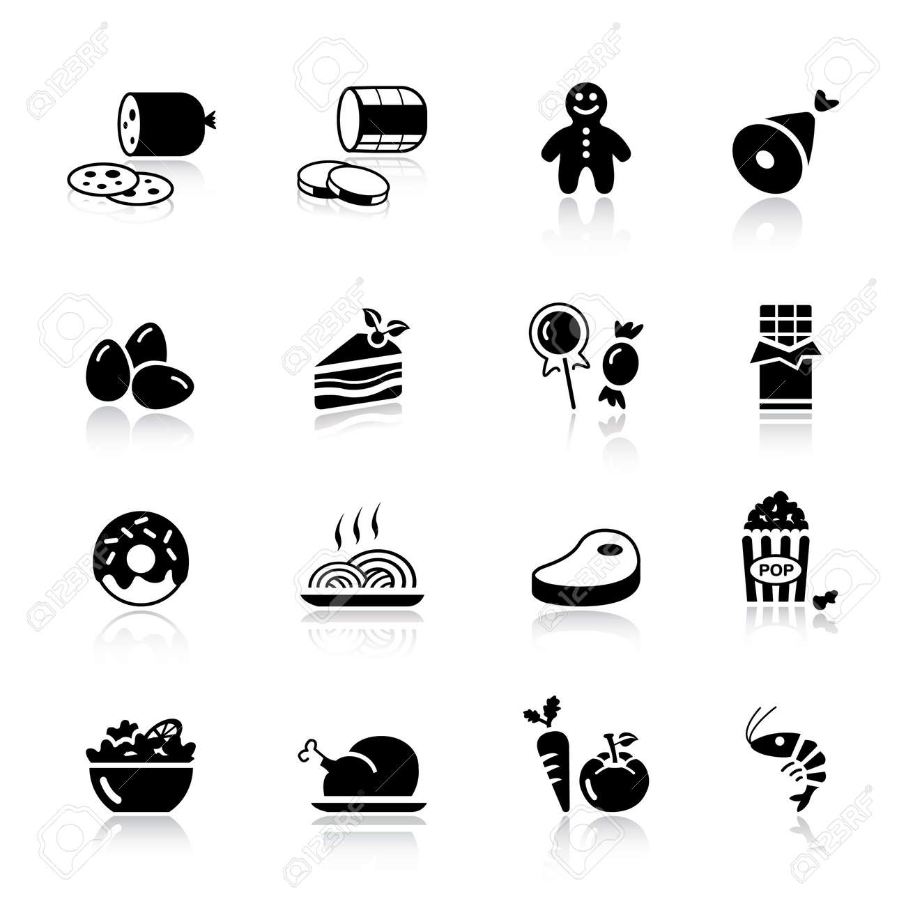 Basic - Food Icons Stock Vector - 9934685
