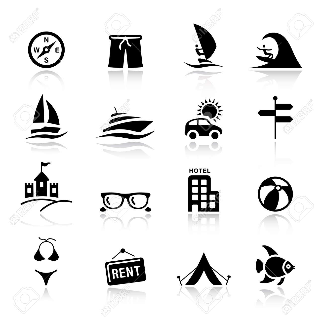Basic - Vacation icons Stock Vector - 9934272