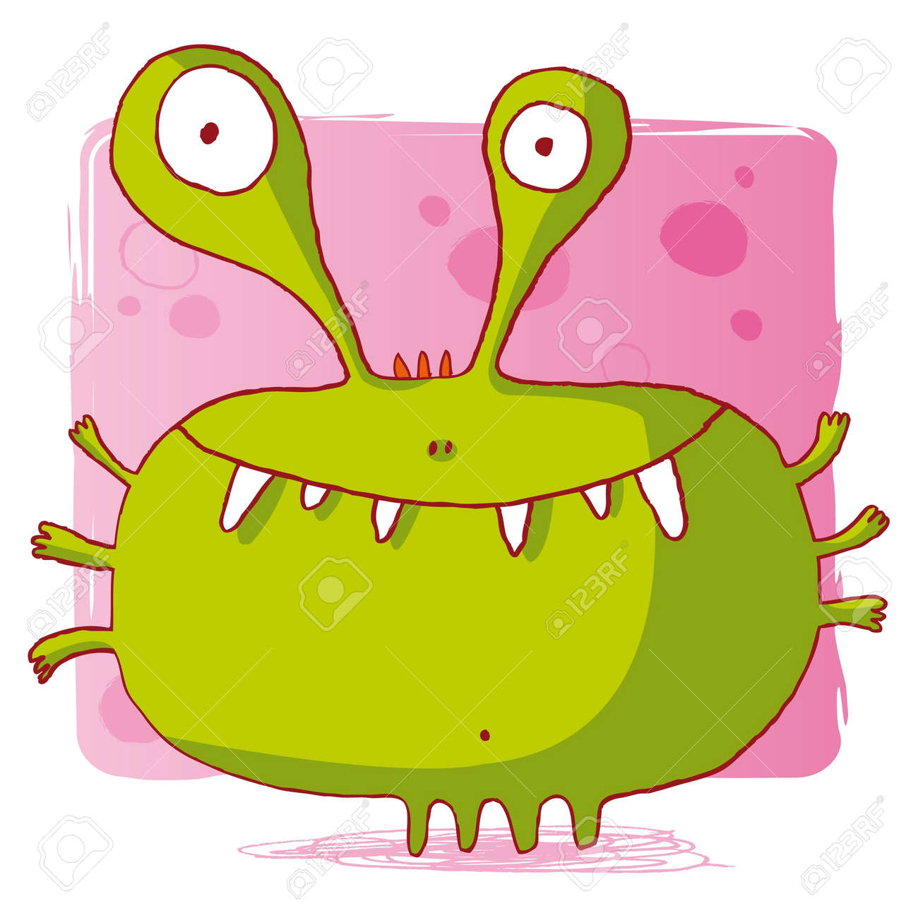 funny bacteria / funny monster / funny computer virus Stock Vector - 10470557