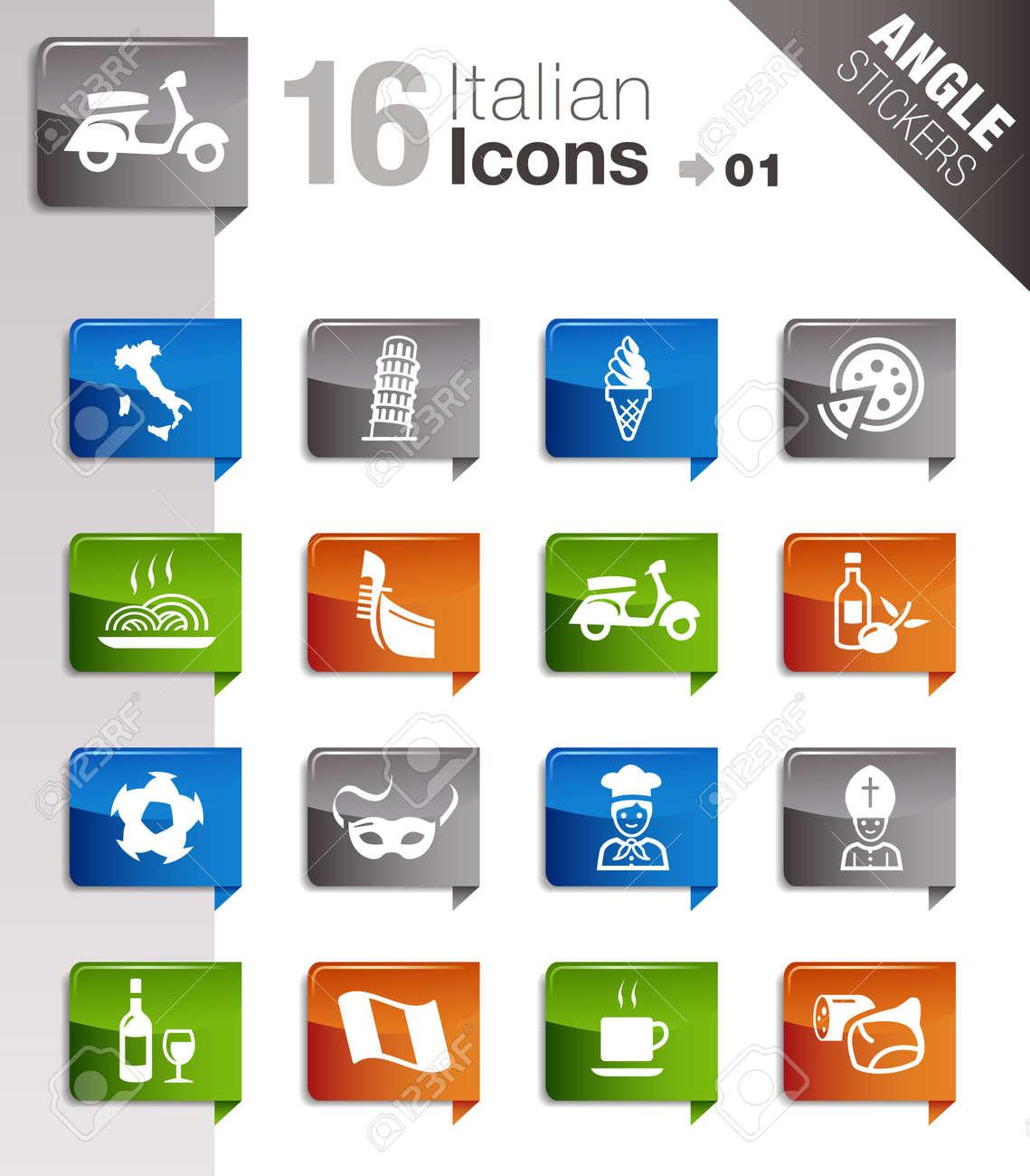 Angle Stickers - Italian Icons Stock Vector - 12488242