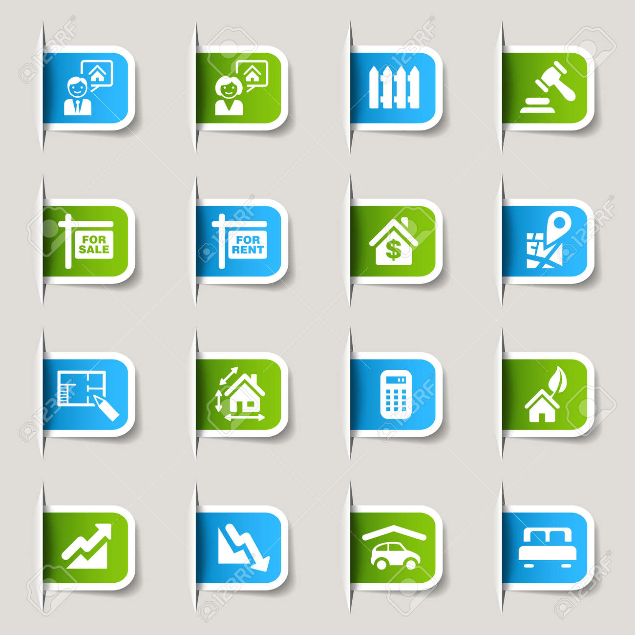Label - Real estate icons Stock Vector - 13483597
