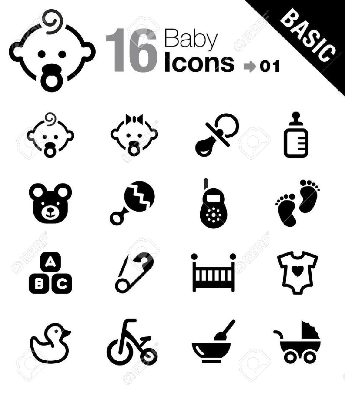 Basic - Baby icons - 17896103