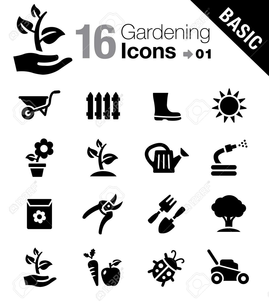 Basic Gardening Icons Royalty Free Cliparts Vectors And Stock