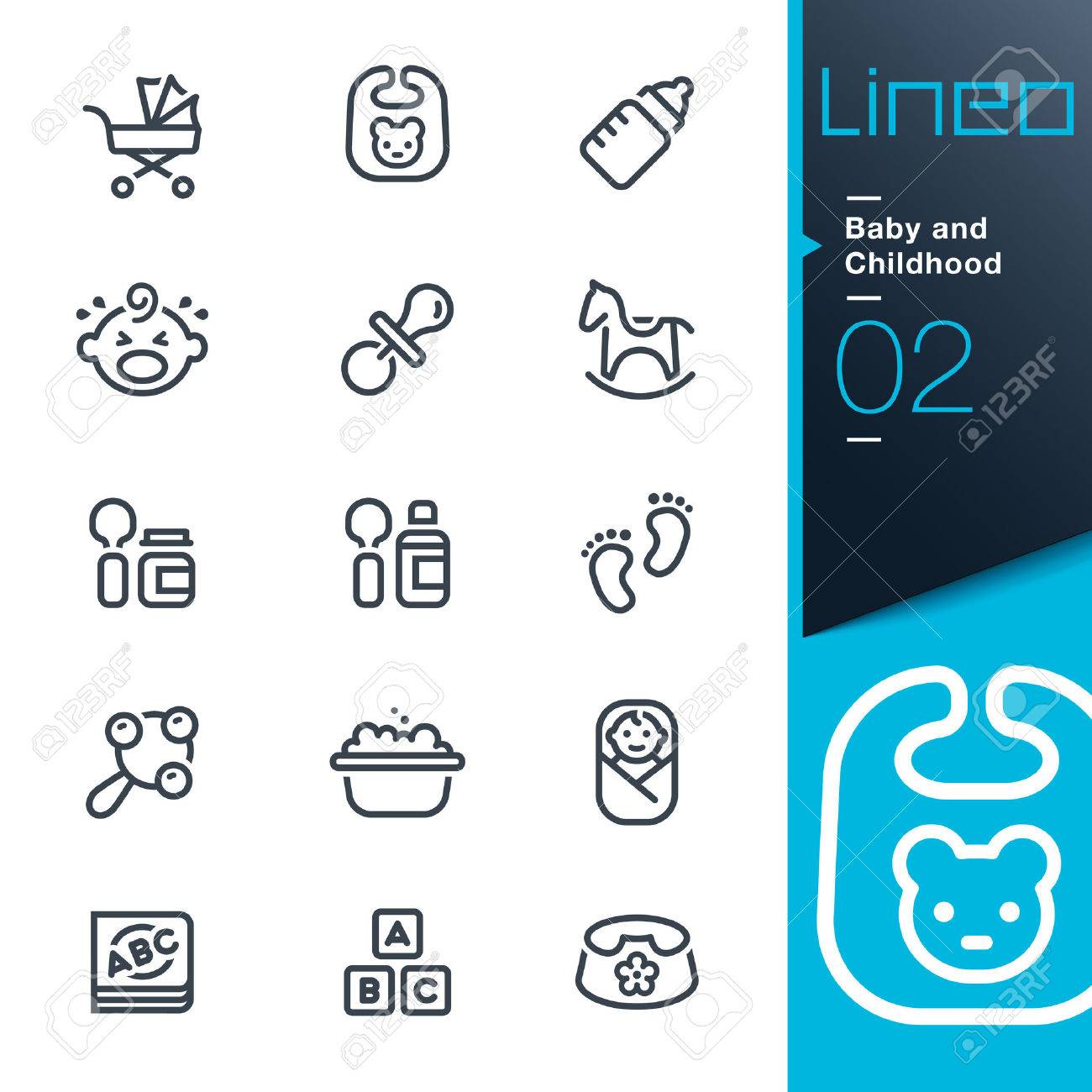 Lineo - Baby and Childhood outline icons - 27438832