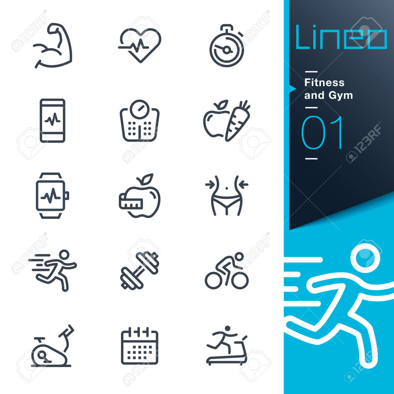 Lineo - Fitness and Gym line icons - 66532540