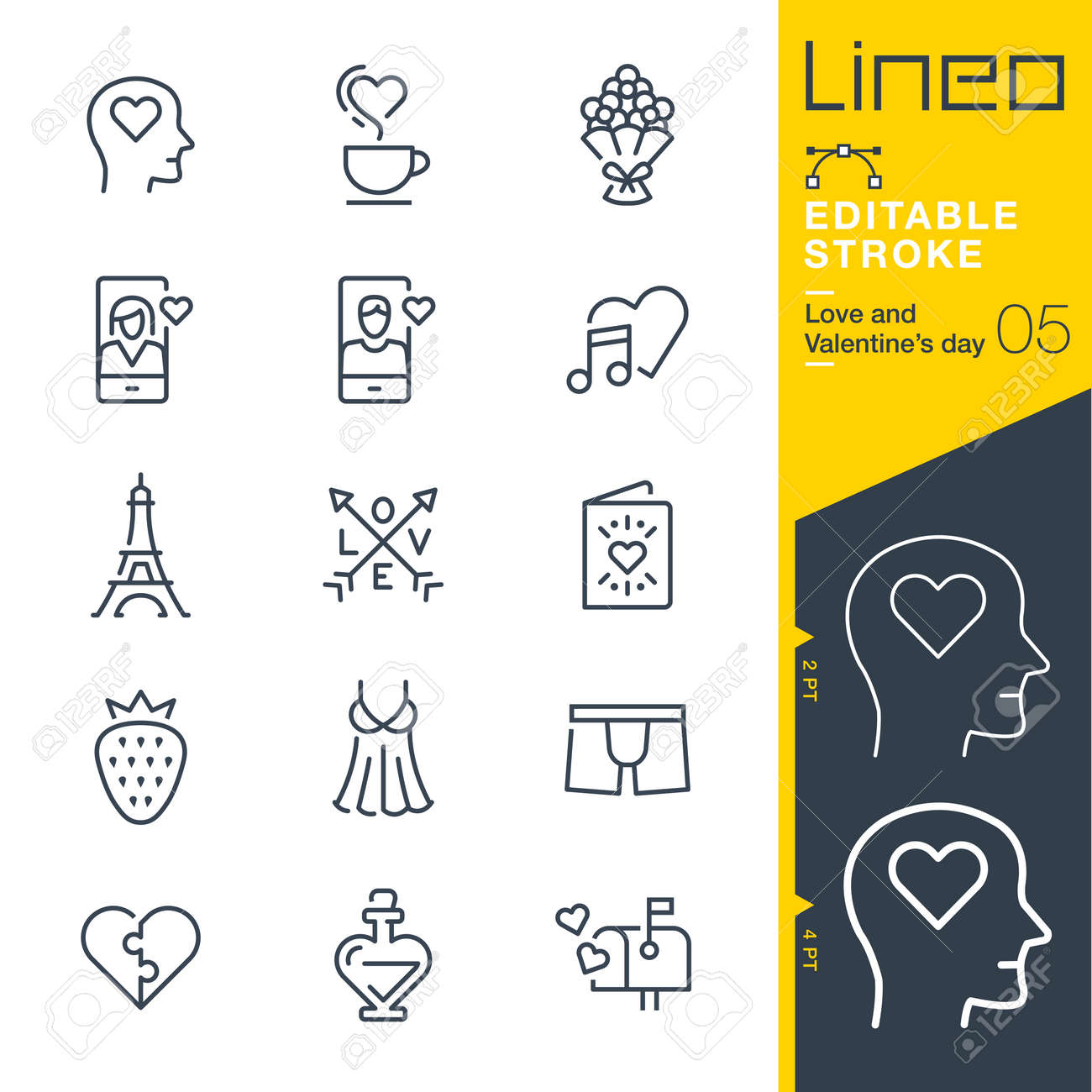 Lineo Editable Stroke - Love and Valentine? ? ? s day line icon Icons - Adjust stroke weight - Change to any color - 84275919