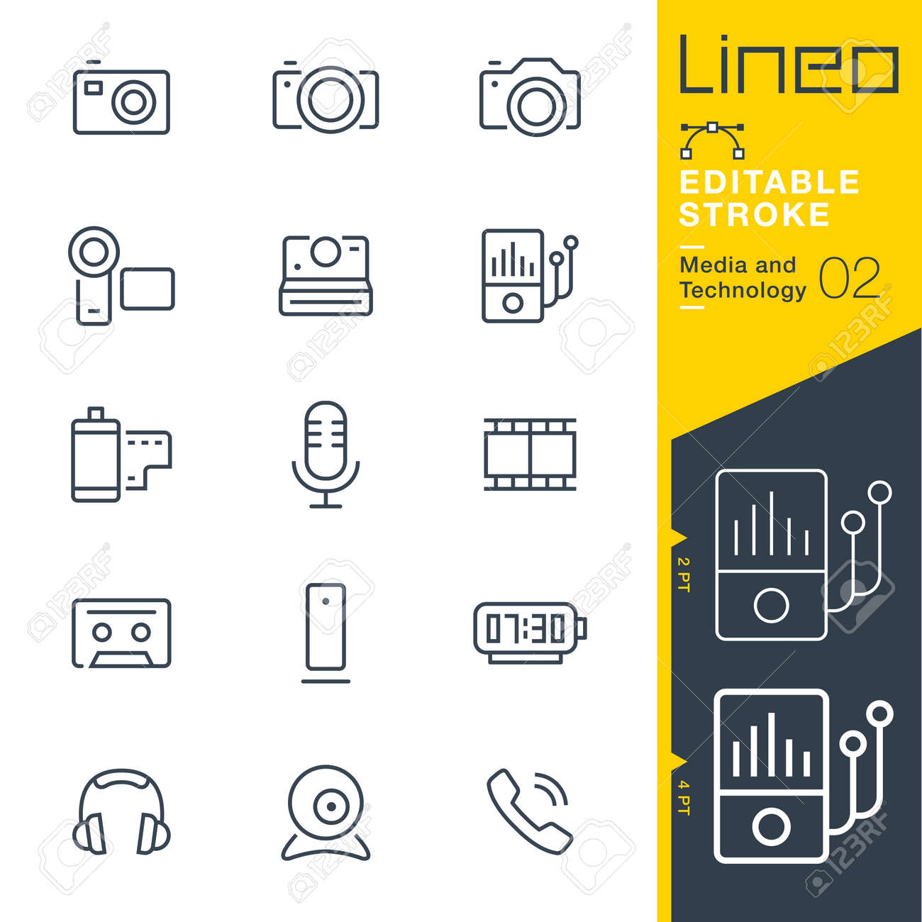 Lineo Editable Stroke - Media and Technology line icon - 84399460