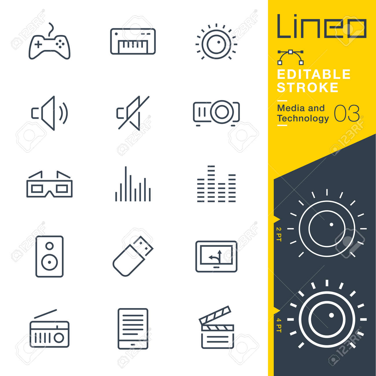 Lineo Editable Stroke - Media and Technology line icon - 84399463
