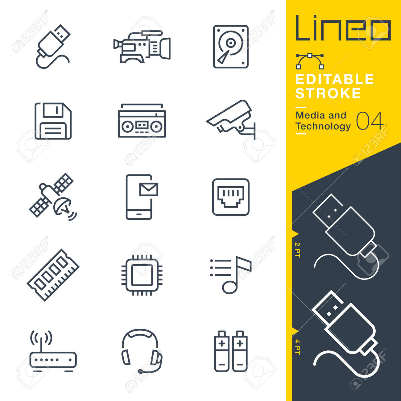 Lineo Editable Stroke - Media and Technology line icon Vector Icons - Adjust stroke weight - Change to any color - 84548940