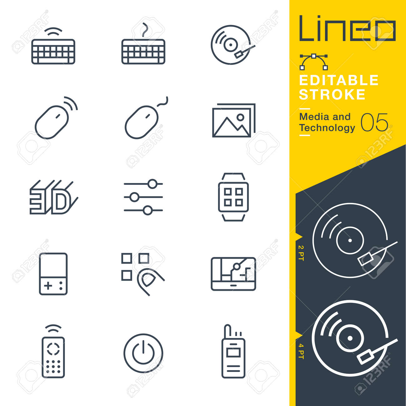 Lineo Editable Stroke - Media and Technology line icon Vector Icons - Adjust stroke weight - Change to any color - 84502436
