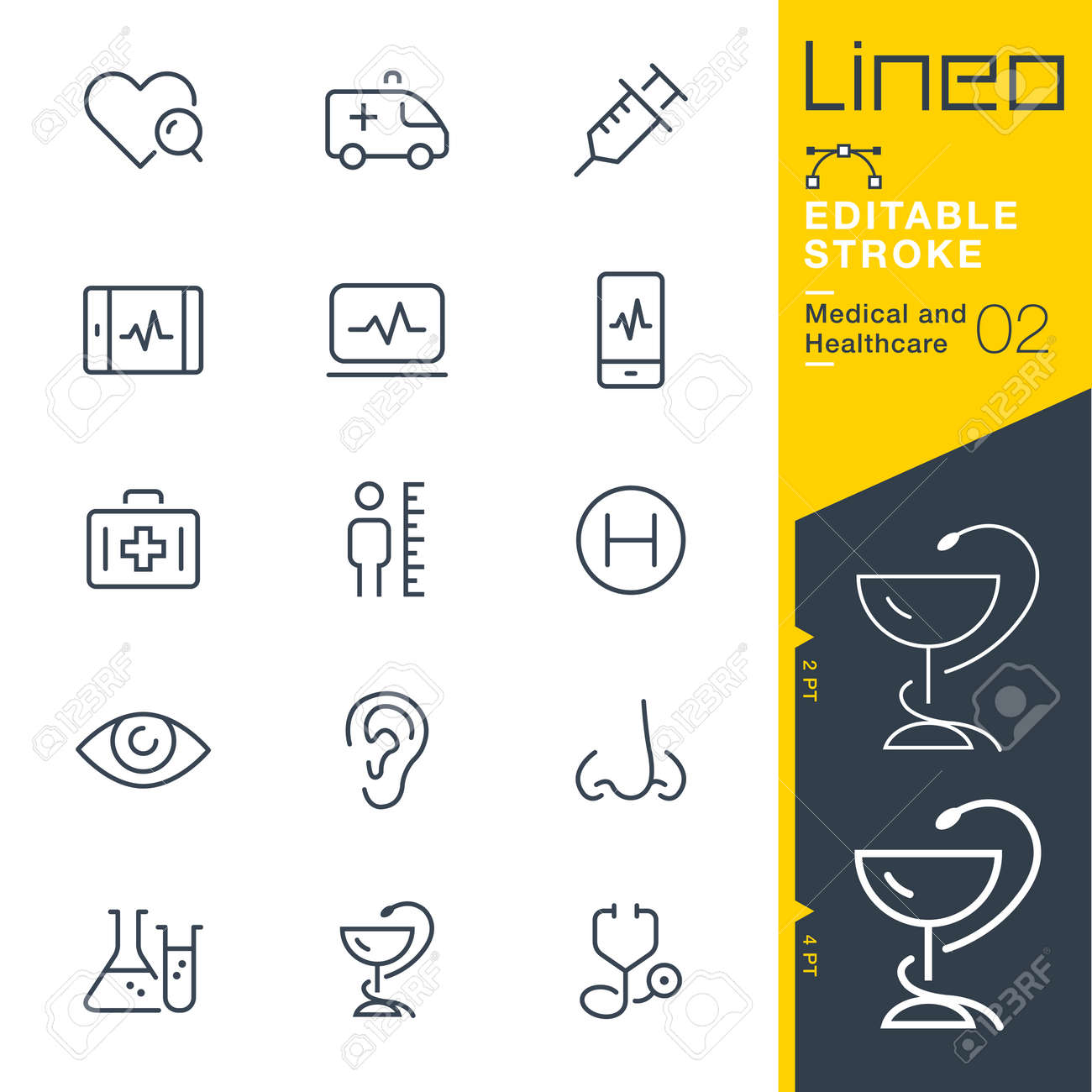 Lineo Editable Stroke - Medical and Healthcare line icon Vector Icons - Adjust stroke weight - Change to any color - 85190489