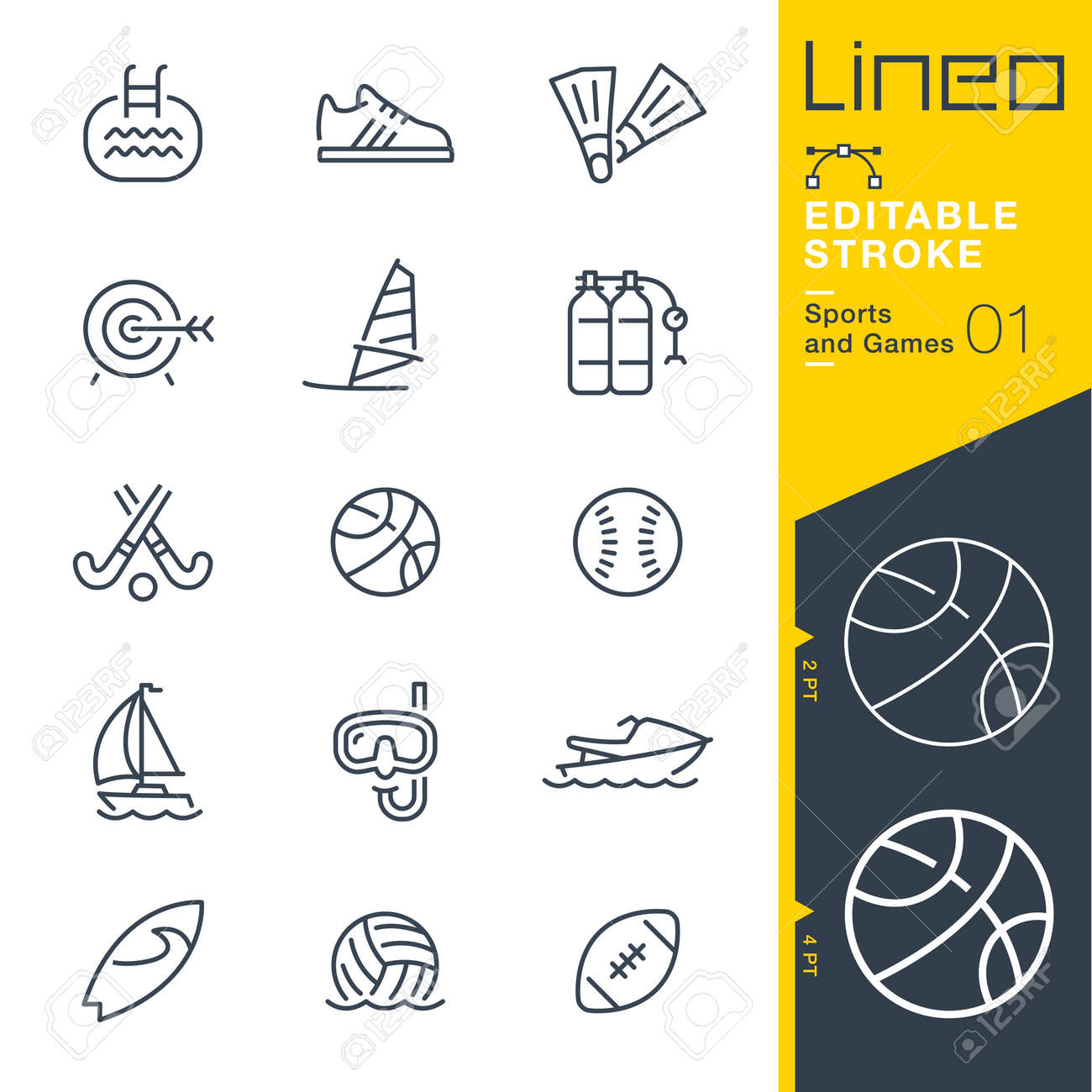 Lineo Editable Stroke - Sports and Games line icons Vector Icons - Adjust stroke weight - Change to any color - 85641770