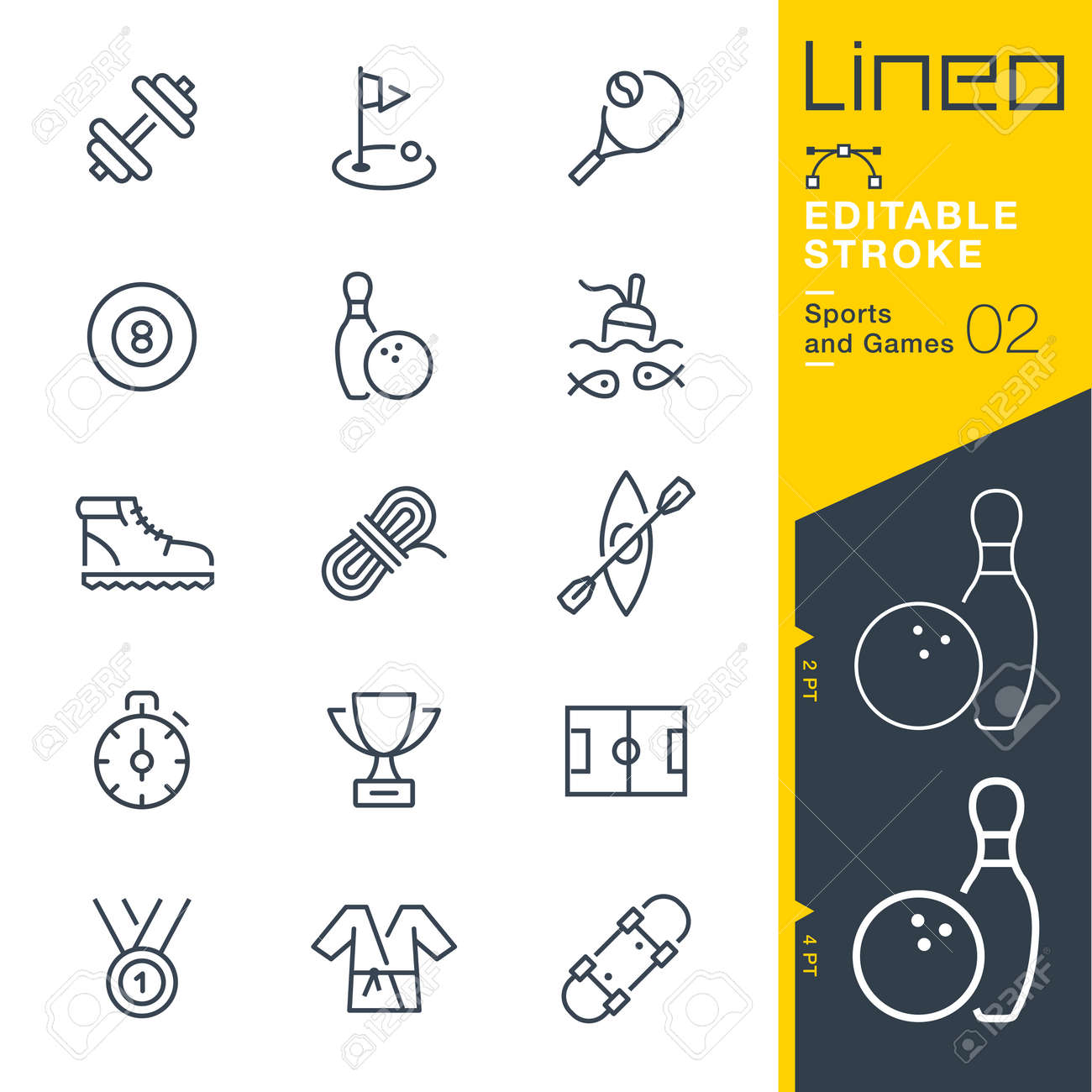 Lineo Editable Stroke - Sports and Games line icons Vector Icons - Adjust stroke weight - Change to any color - 85641772